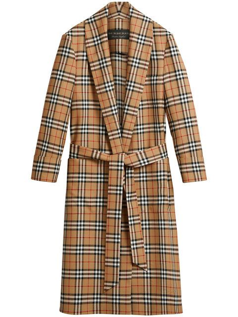 Burberry Reissued Vintage Check Dressing Gown Coat | Dressings ...
