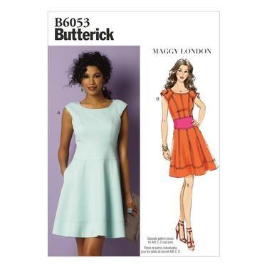 Butterick B6053 Misses Dress Spotlight Australia Sewing