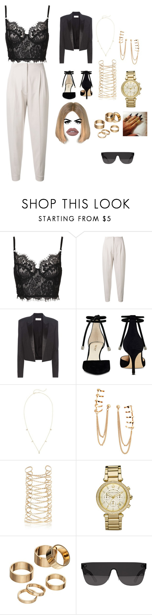 """""""S.A.L.T."""" by mariamxismail ❤ liked on Polyvore featuring MaxMara, Yves Saint Laurent, Nine West, ZoÃ« Chicco, H&M, River Island, Michael Kors, Apt. 9, RetroSuperFuture and Tom Ford"""
