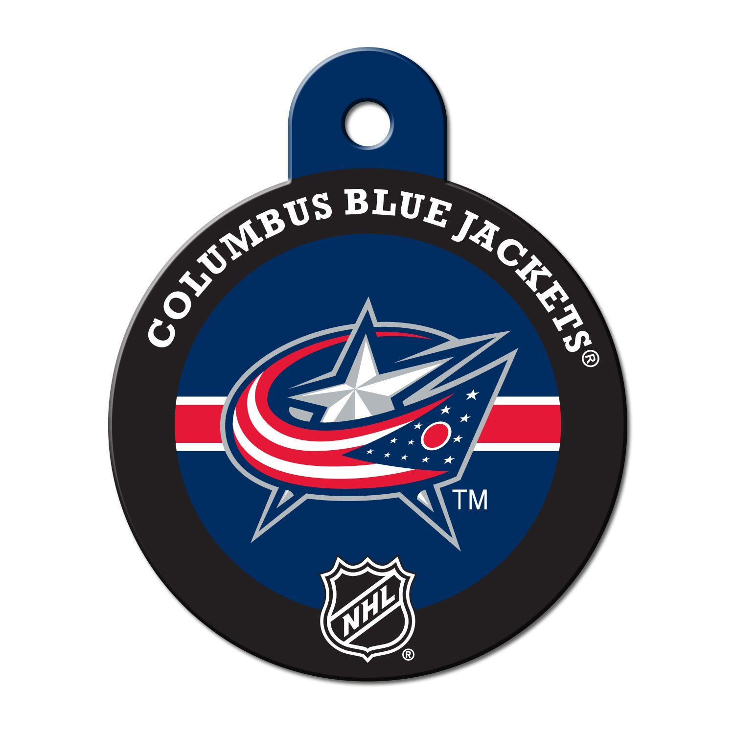 Quick Tag Columbus Blue Jackets Nhl Personalized Engraved Pet Id