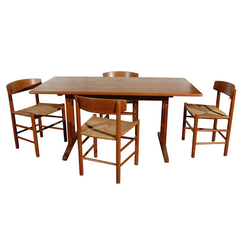 Original Borge Mogensen Teak Shaker Style Dining Table 1stdibs