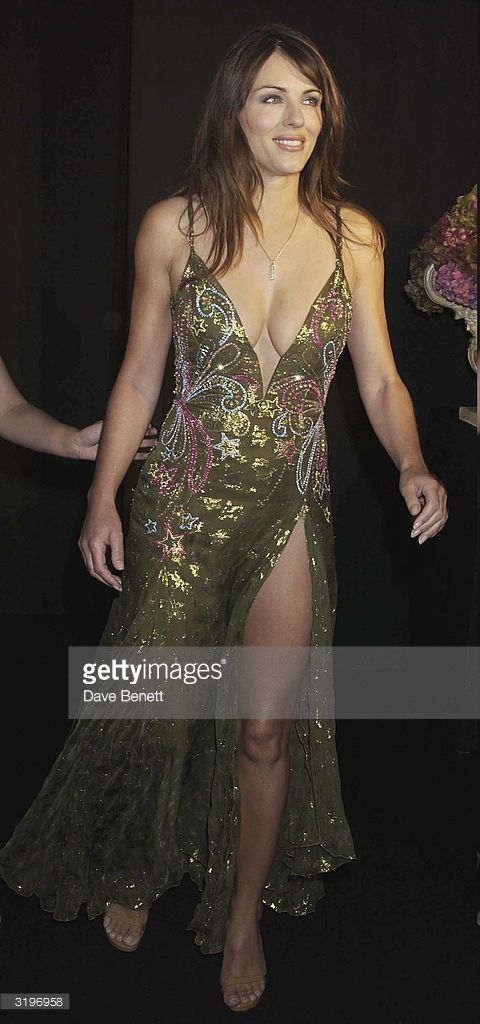 Elizabeth Hurley At The Versace Show At The Theatre National De Elizabeth Hurley Women Hurley