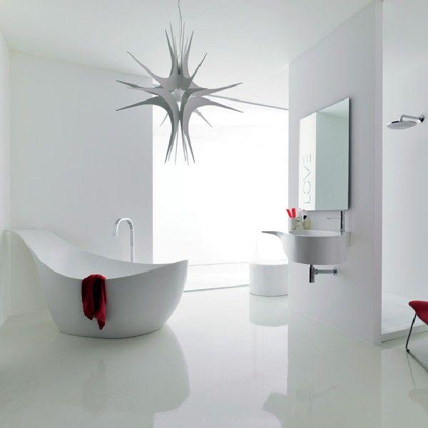 Luxury White Bathroom Design With Novello Furniture Design
