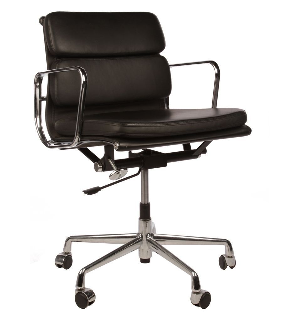 Eames alu chair ea 217 soft pad eames alu chair office for Eames aluminium chair replica