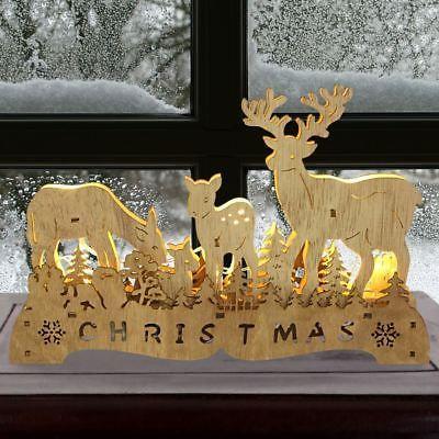 Weihnachtsbeleuchtung Lichterbogen.Led Weihnachtsdeko Rentiere 30x20cm Fensterdeko Lichterbogen