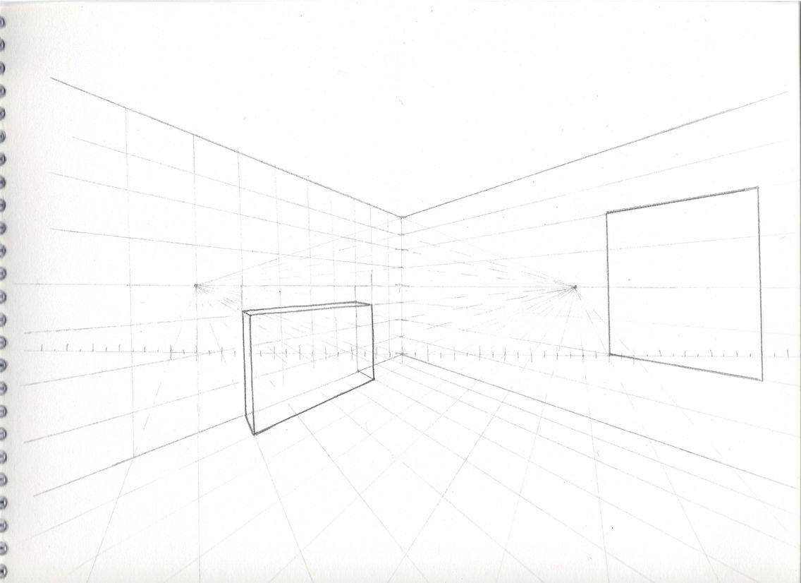Grille d\'une perspective à deux points de fuite | architecture de ...