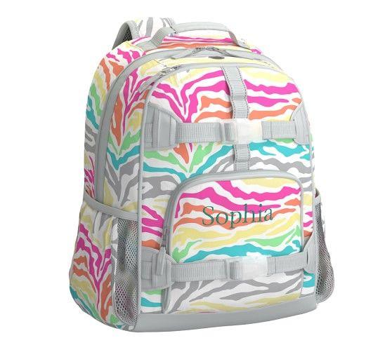 Mackenzie Multi Zebra Backpack Backpacks Rainbow Zebra