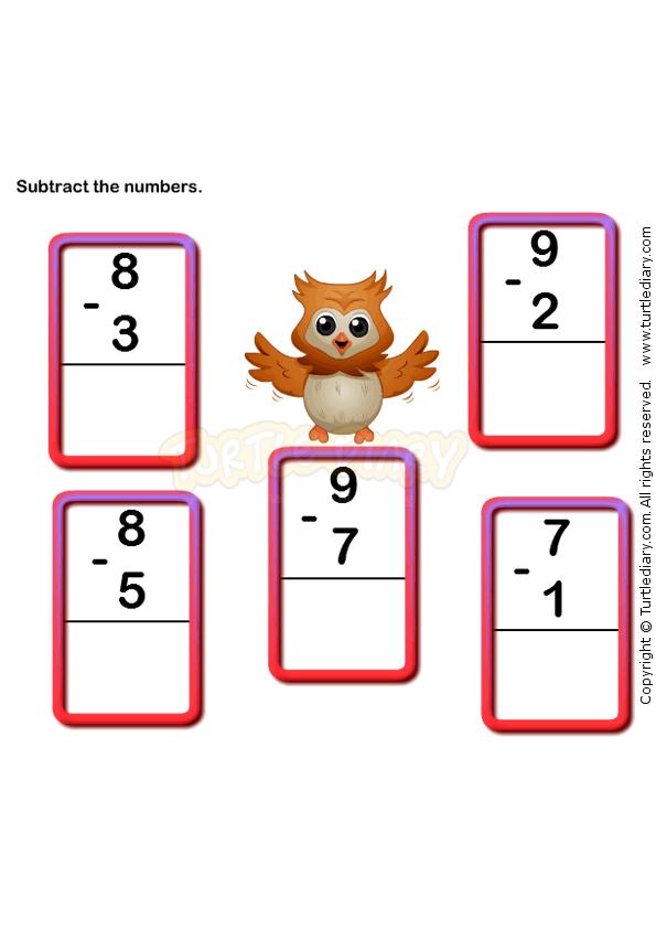 Subtraction Worksheet 6 - math Worksheets - kindergarten Worksheets ...