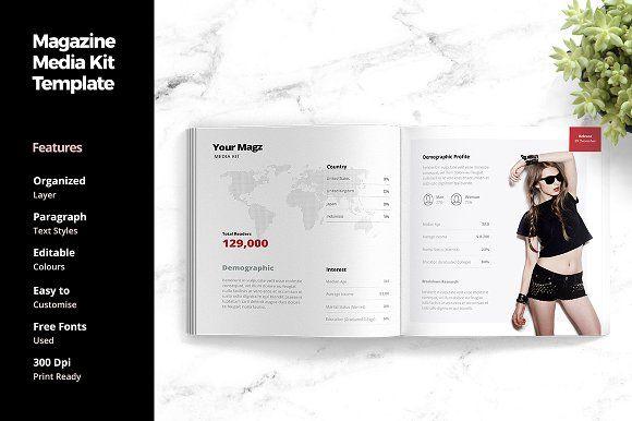 Magazine Media Kit Template | Media kit template, Media kit and ...