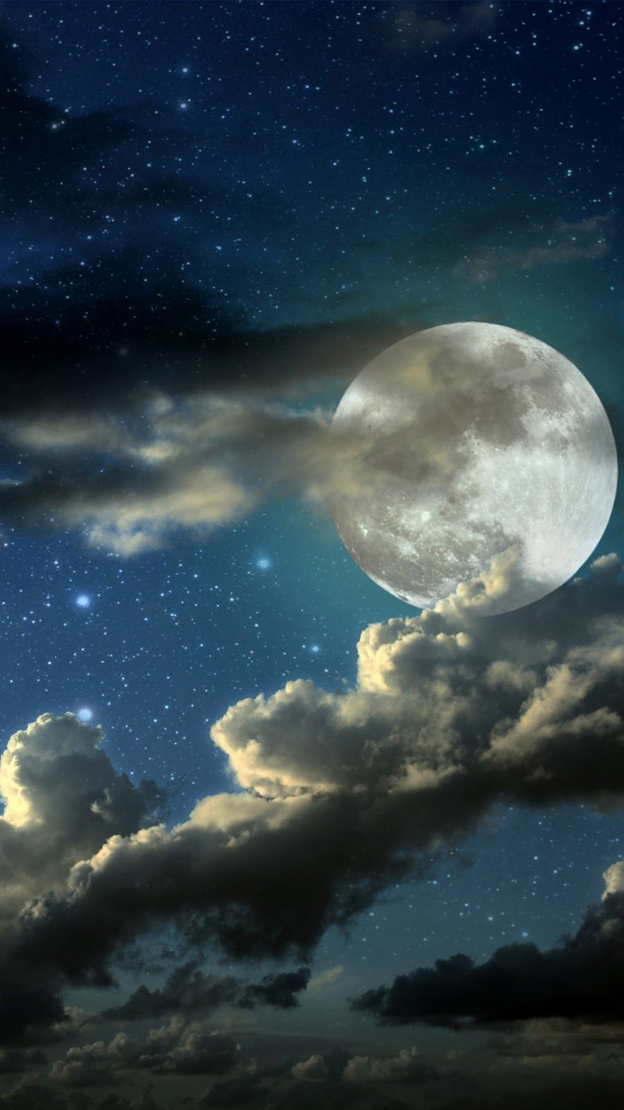 Night Sky Wallpaper Iphone Android Background Followme Beautiful Moon Stars And Moon Night Skies