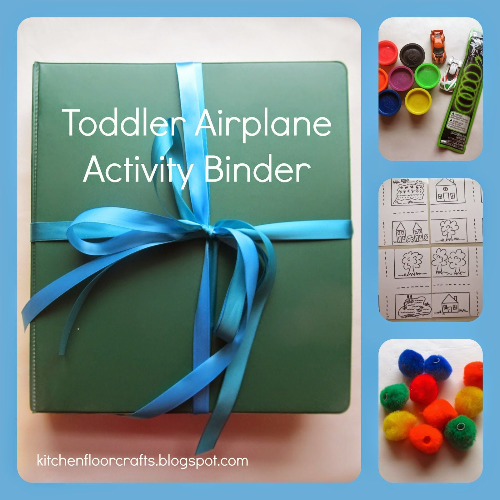 Toddler Airplane Activity Binder Busy Bags Pinterest
