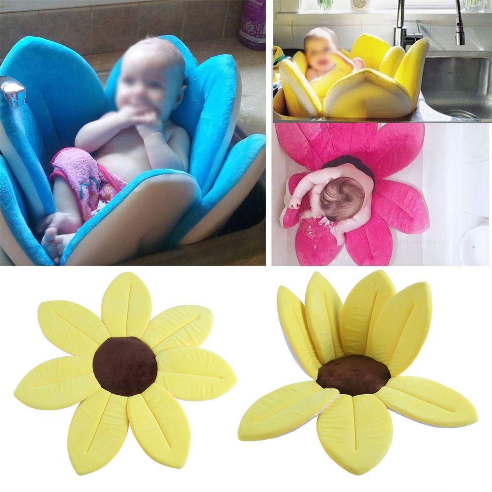 Flower Shape Baby Bath Sink Bathing Mat Infant Safety Tub Nursery ...