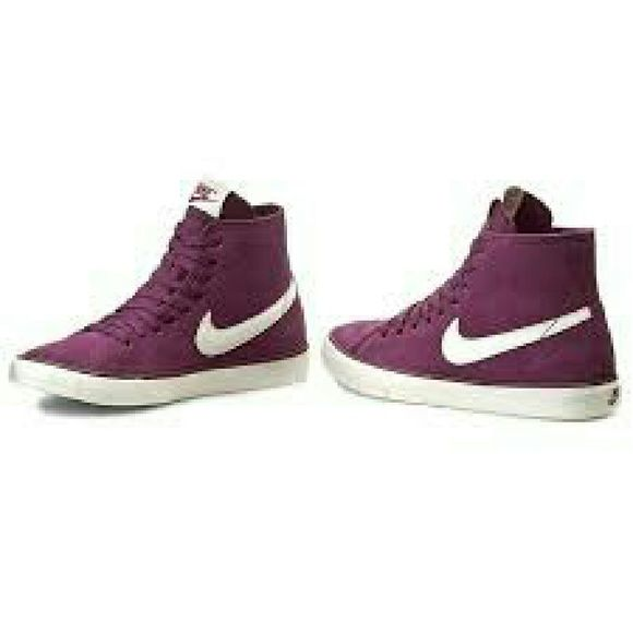 5db2944d339d Add a flair to your wardrobe...midtop enhances ankle support and the  outsole for traction....Great color!! Nike Shoes Sneakers
