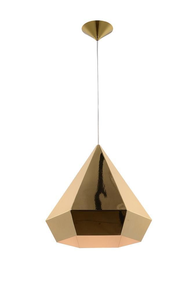 14 Inch Doheny Ave Gold Pendant Light