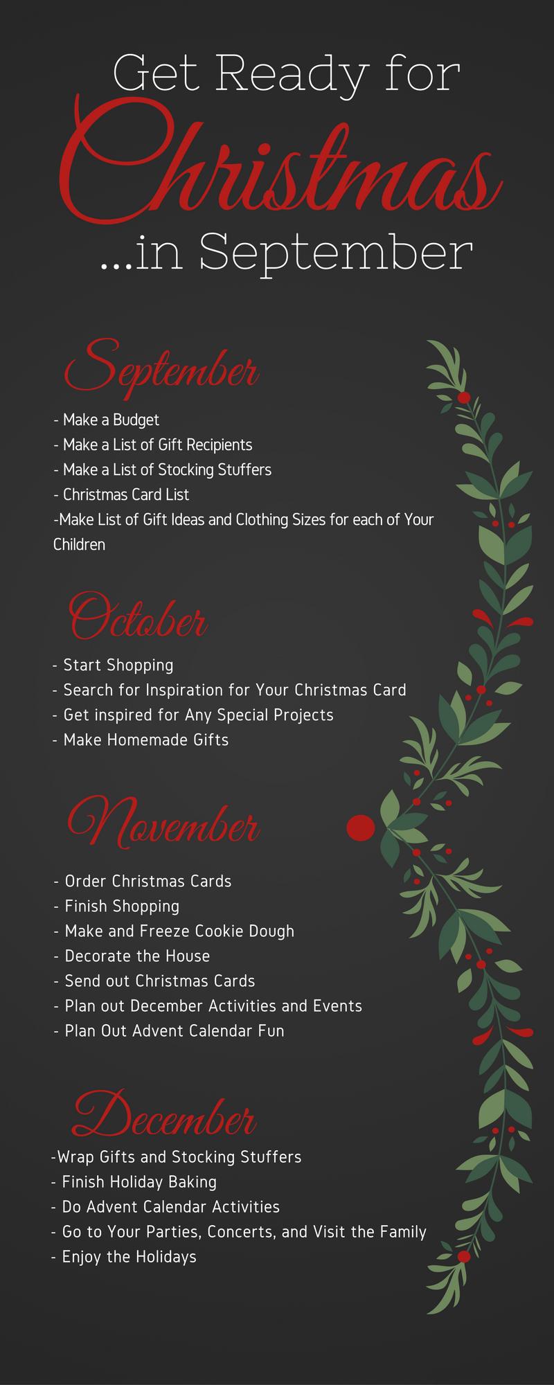 Get Ready For Christmas September Christmas Diy