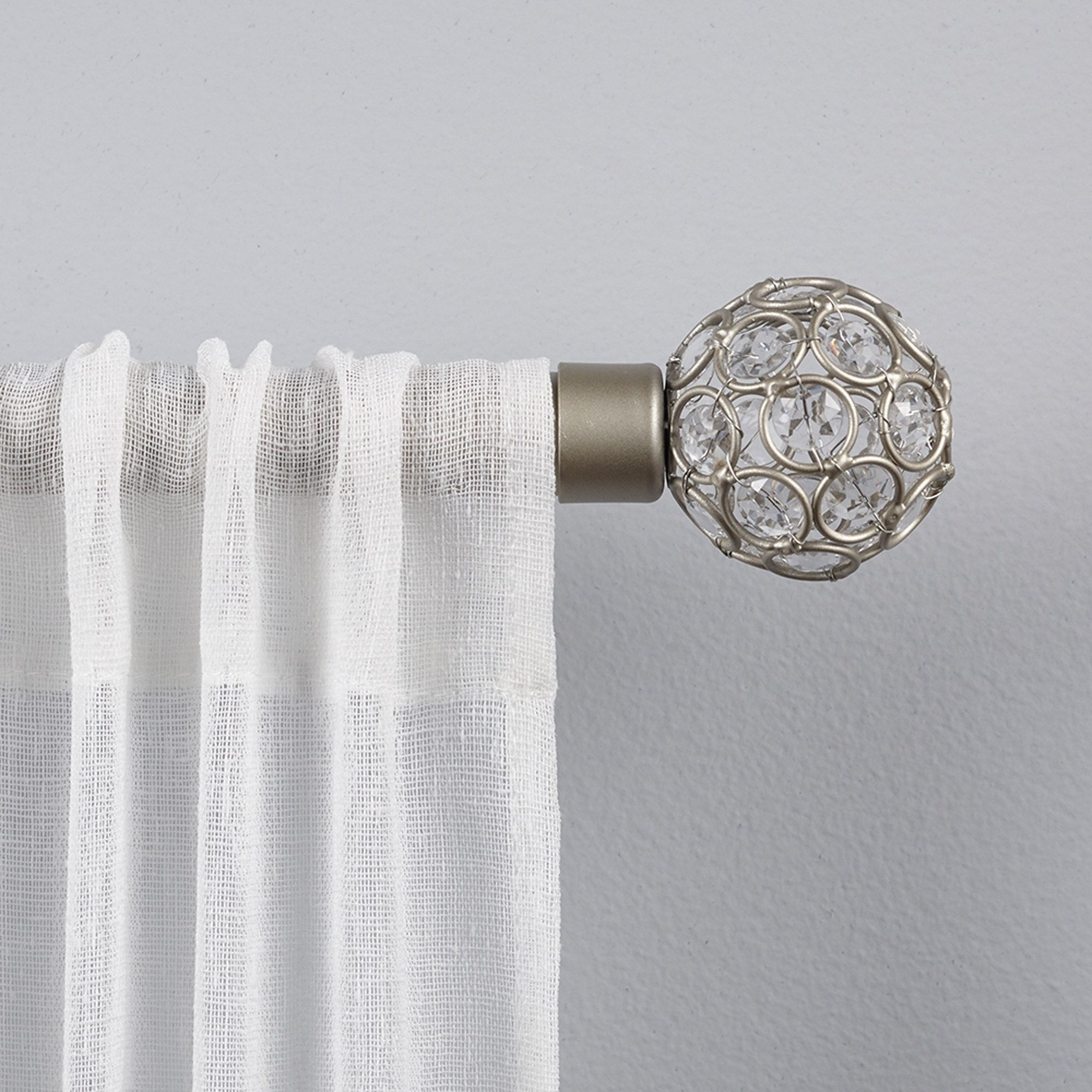 ATI Home Rings 1 Curtain Rod And Finial Set 36 To 72