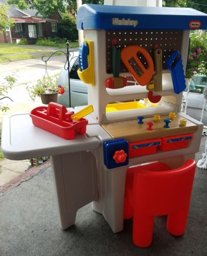 Awe Inspiring Vintage 90S Little Tikes Workshop Tool Bench Carpentry Play Ocoug Best Dining Table And Chair Ideas Images Ocougorg