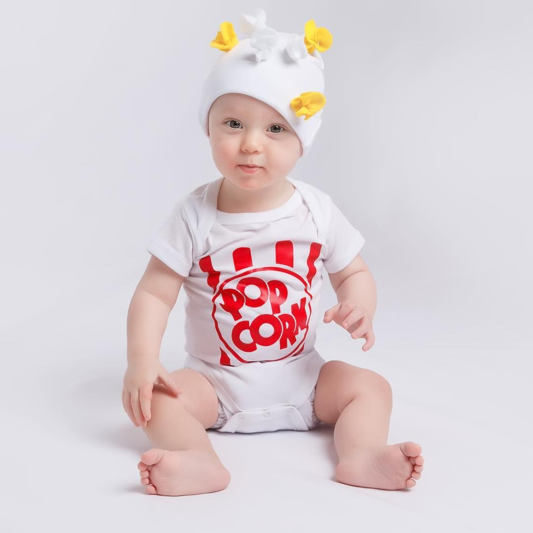 e978aed40 Popcorn baby onesie. So cute and creative! | Foodie Baby Onesie ...