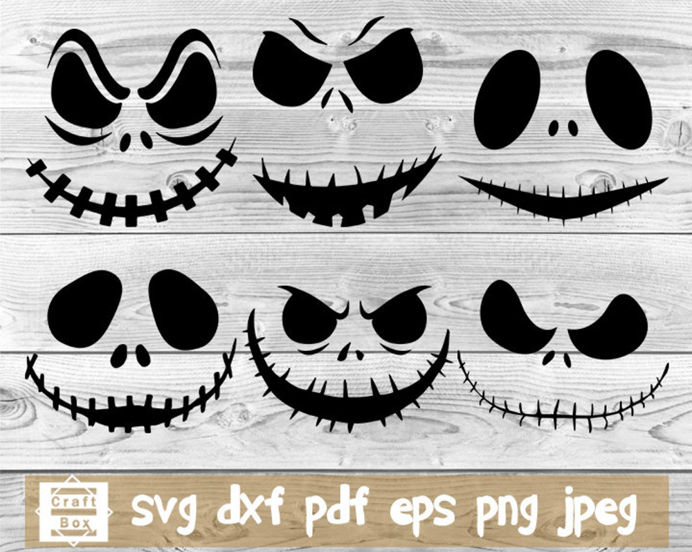 Halloween Face Svg Pumpkin Face Svg Skeleton Svg Halloween Svg Scarecrow Svg Skulls Clipart Svg 1st Halloween Halloween Template Halloween Templates Pumpkin Faces Jack Skellington Faces
