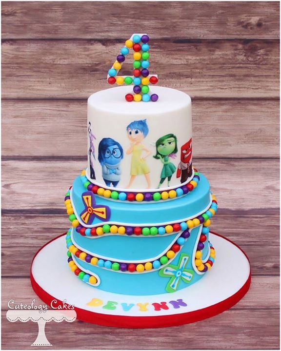 Bolo De Divertida Mente With Images Themed Cakes Birthday