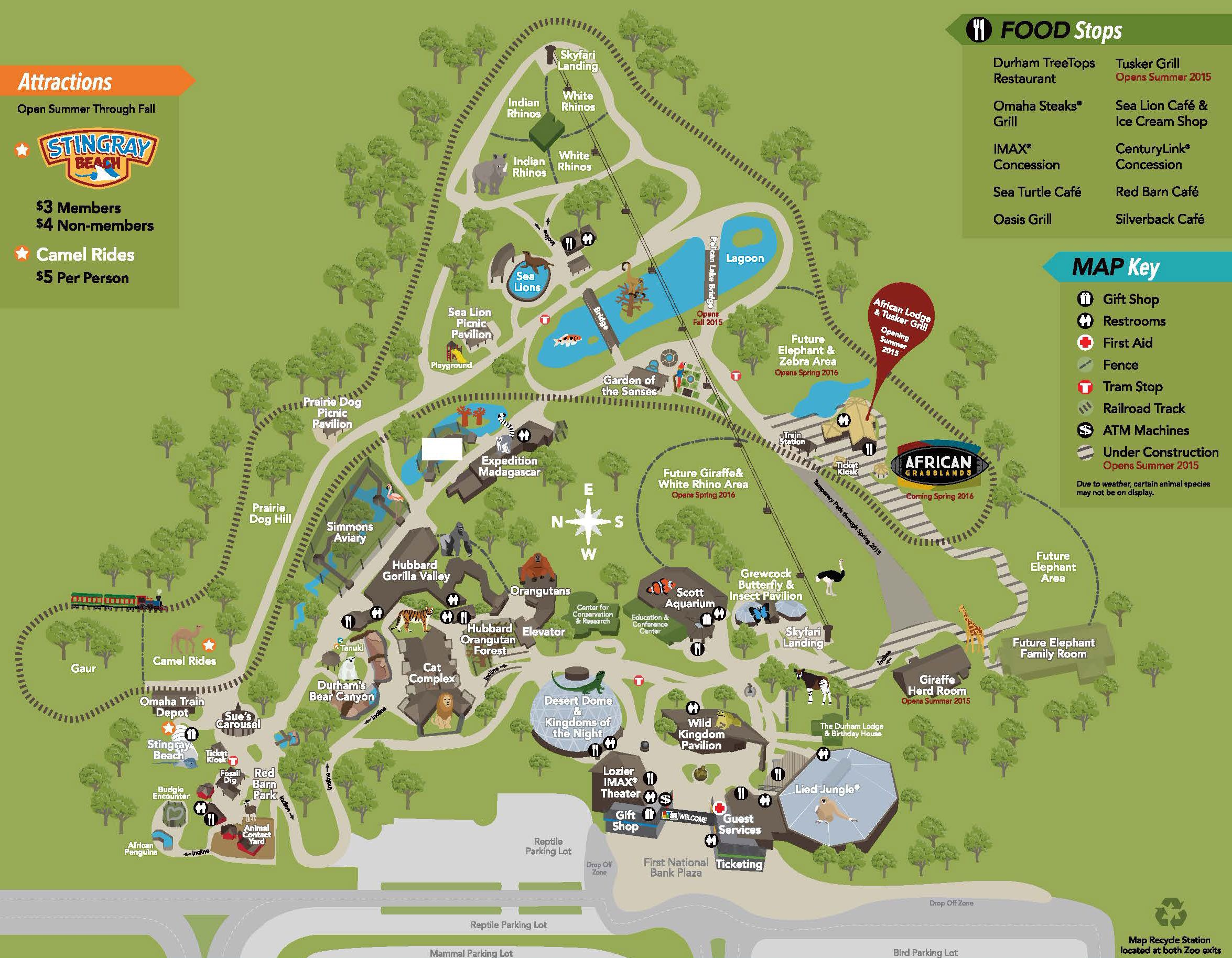 Zoo Map Omahas Henry Doorly Zoo Entertainment In Omaha - Houston zoo map
