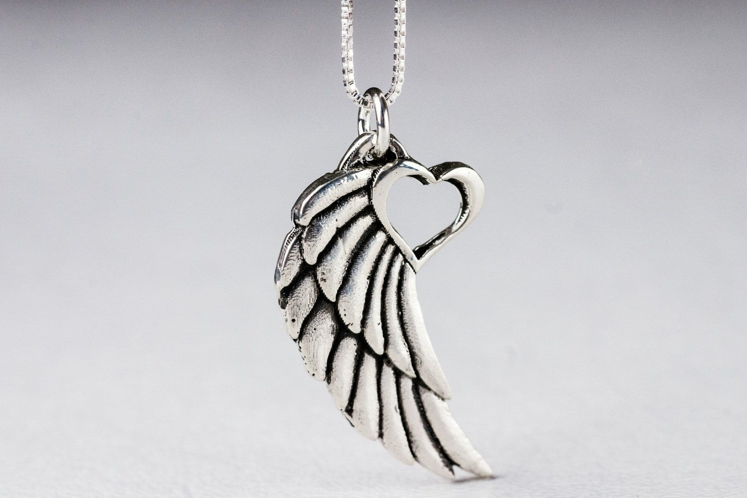 Angel wing necklace with heart pendant tattoo winged heart necklace angel wing necklace with heart pendant tattoo winged heart necklace sterling silver aloadofball Gallery