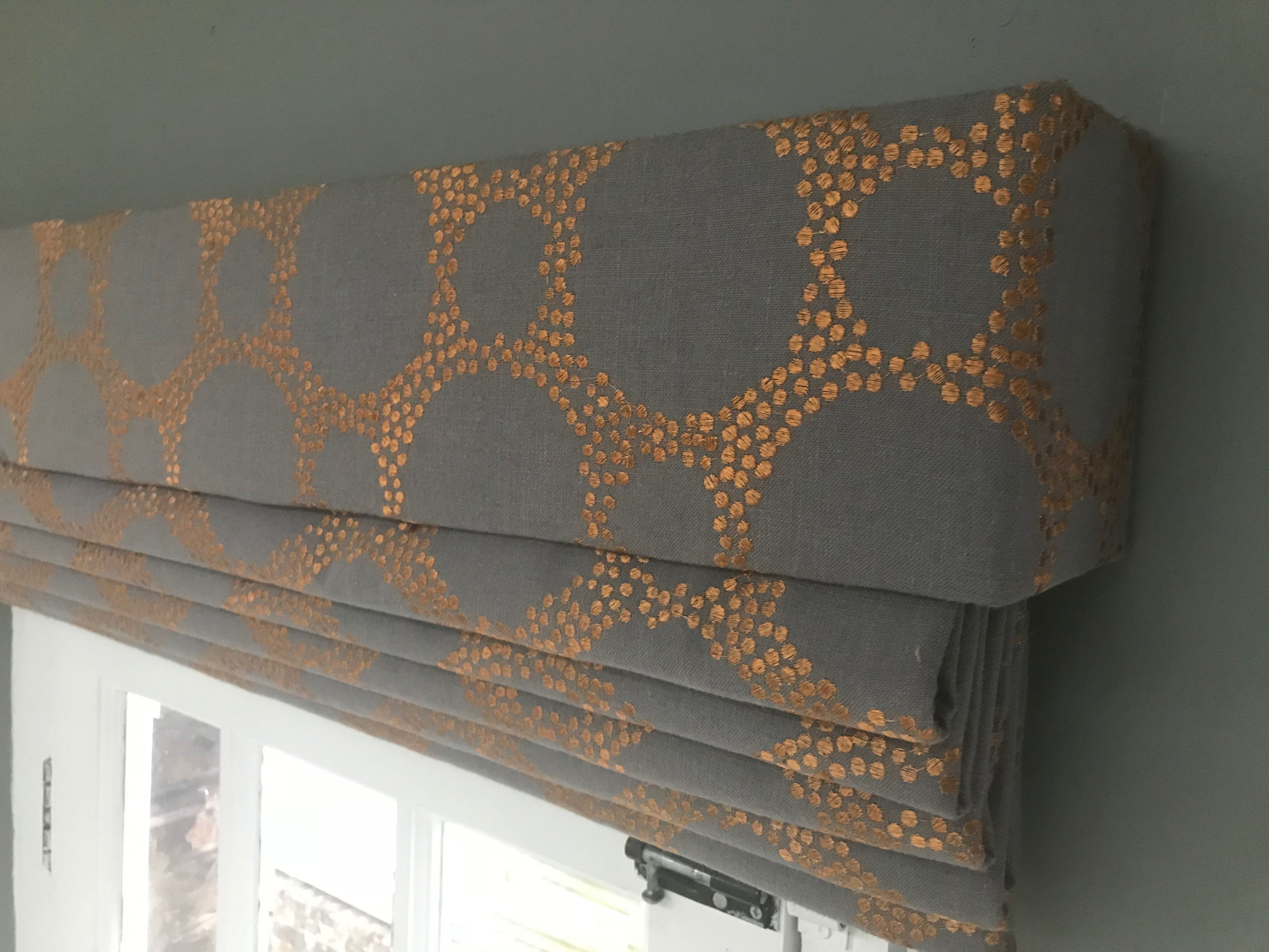 Roman Blind With Matching Pelmet For A Kitchen Handmade By Louise