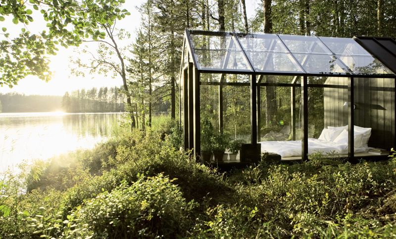 "Name: ""Garden Shed"" • Year: 2010 • Architect/Designer: Ville Hara and Linda Bergroth • Location: Finland • Description: ""Finnish architect Ville Hara and designer Linda Bergroth launched their two-in-one greenhouse and shed kit. Linda Bergroth customised the prototype to create her own summer house with the addition of a wooden floor, solar panels for lighting and steps made of reclaimed bricks."" — ""Scandinavian Garden Shed"", Rojak Site (Retrieved: 12 March, 2012)"