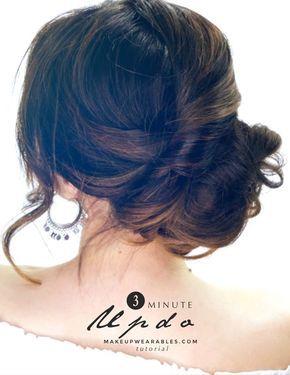 Three Minute Elegant Side Bun Hair Tutorial For Running Late Mornings Quick Easy Hairstyles Long Medium