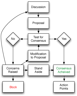 Flowchart of basic consensus decision making process professional development self also techniques for reaching  group systems change rh pinterest