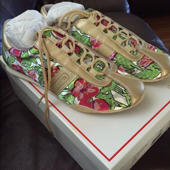 Coach RARE Sneakers NIBWT Gorgeous Kirby Ashley Floral sneakers size 6 Coach Shoes Athletic Shoes