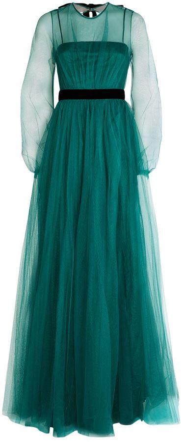 No 21 Net Maxi Dress Fashion Maxi Dress Long Sleeve Dress