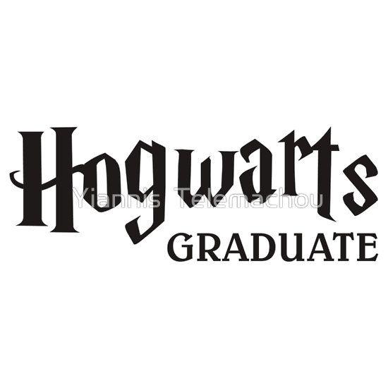 Hogwarts Graduate Black By Yiannis Telemachou Harry Potter Font Harry Potter Stickers Harry Potter Font Generator