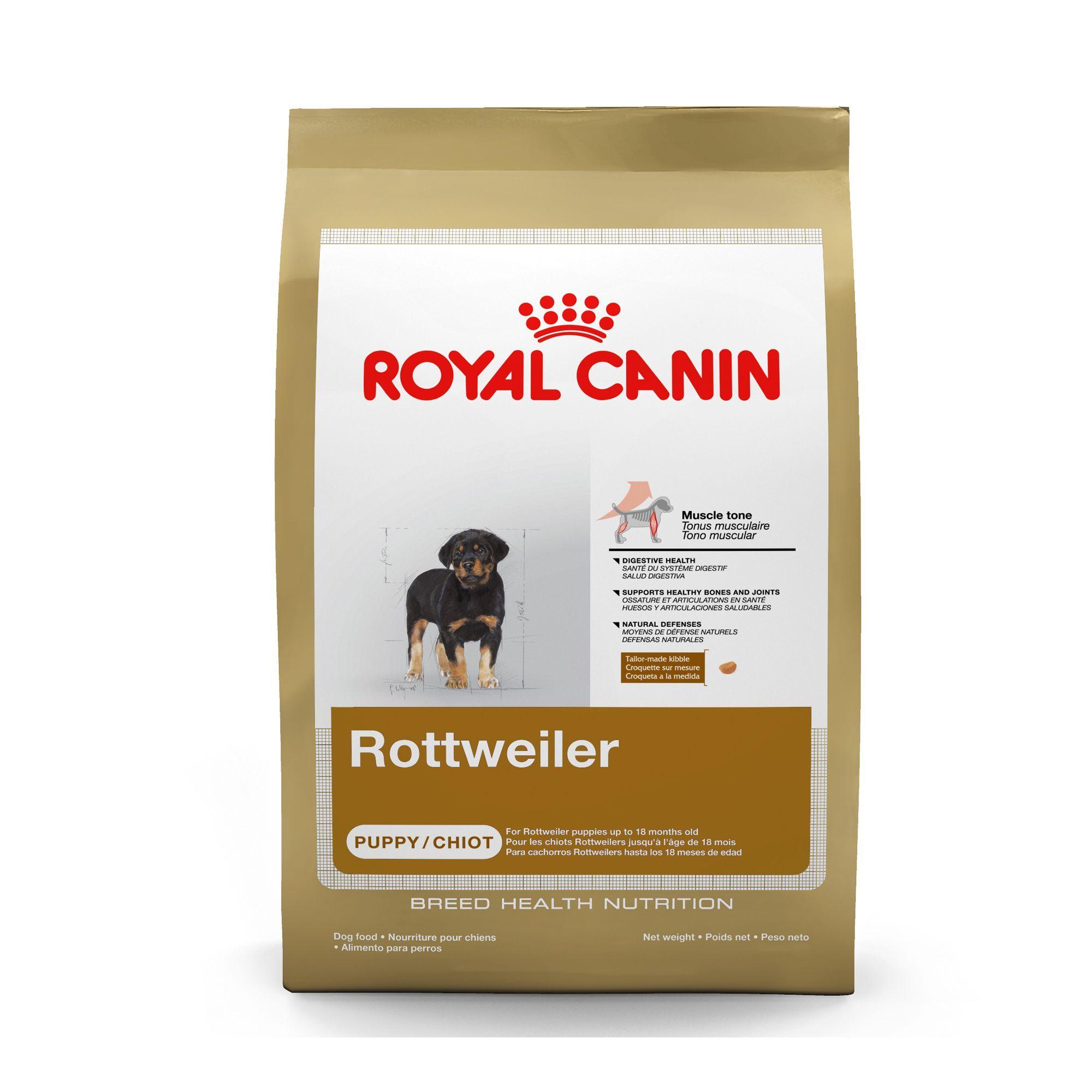 Royal Canin Rottweiler Puppy Food Beet Bone Brown Chicken
