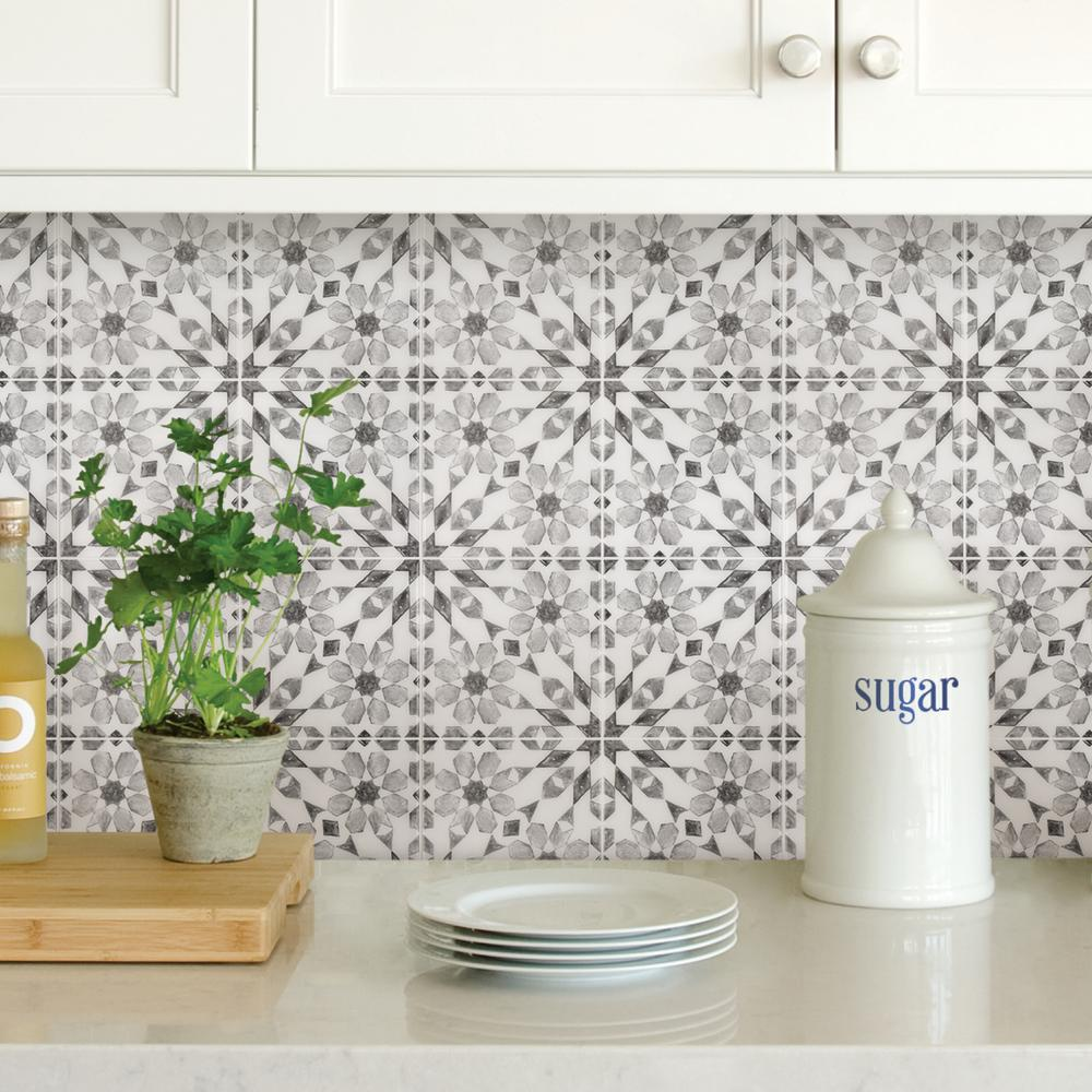 Inhome 10 In X 10 In Catalan Peel And Stick Backsplash Tiles Nh2961 The Home Depot In 2020 Peel Stick Backsplash Self Adhesive Backsplash Peel N Stick Backsplash