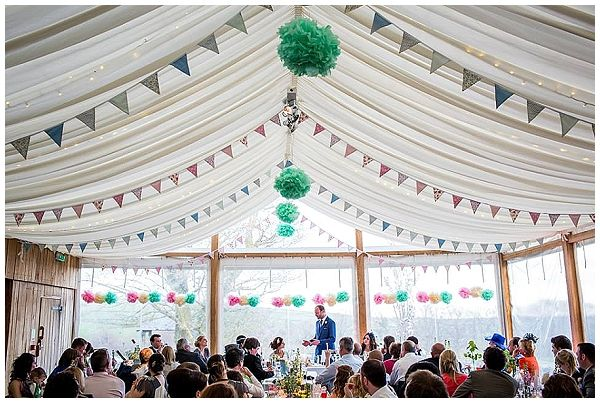Green Pink Pom Poms Bunitng Marquee The Wedding Of My Dreams Pastel Decorations