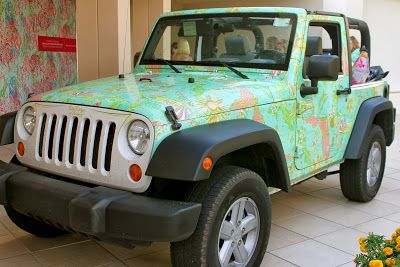 Devon Alana Design Beep Beep Lilly Pulitzer Jeep Comes To Waterside Naples Jeep Wrangler For Sale Jeep Big Girl Toys