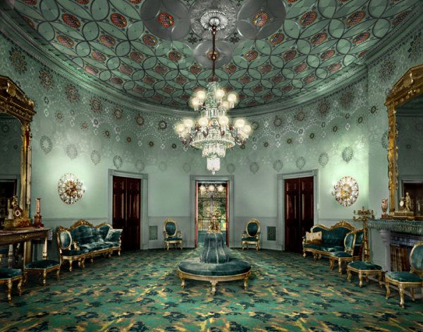 The White House Blue Room As Decorated By Louis Comfort Tiffany