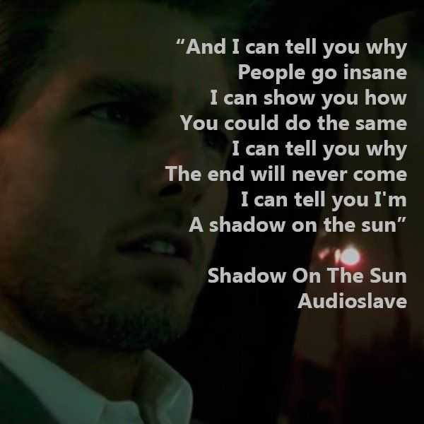 Audioslave S Song Shadow On The Sun Was Featured Very