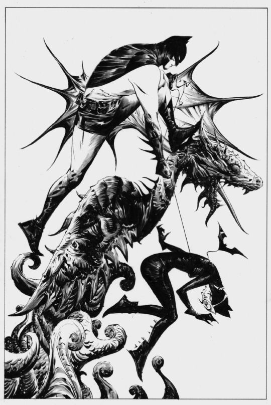 Batman and Catwoman by Jae Lee