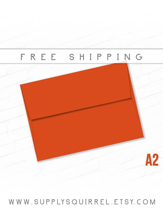 color envelopes a2 size 20 pack dark orange red invite holiday