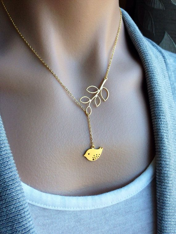 Birdy Dangle Lariat In Gold Gift Love Wife Mother Sister