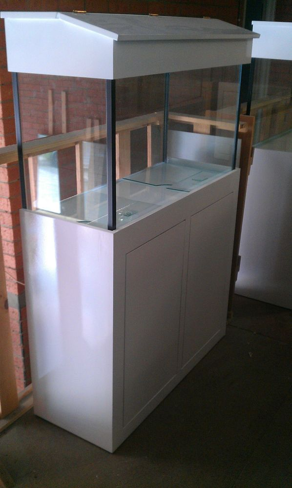 3FT Aquarium  Glass Fish Tank Modern Style Cabinet,Hood And Base Brand New    Ebay
