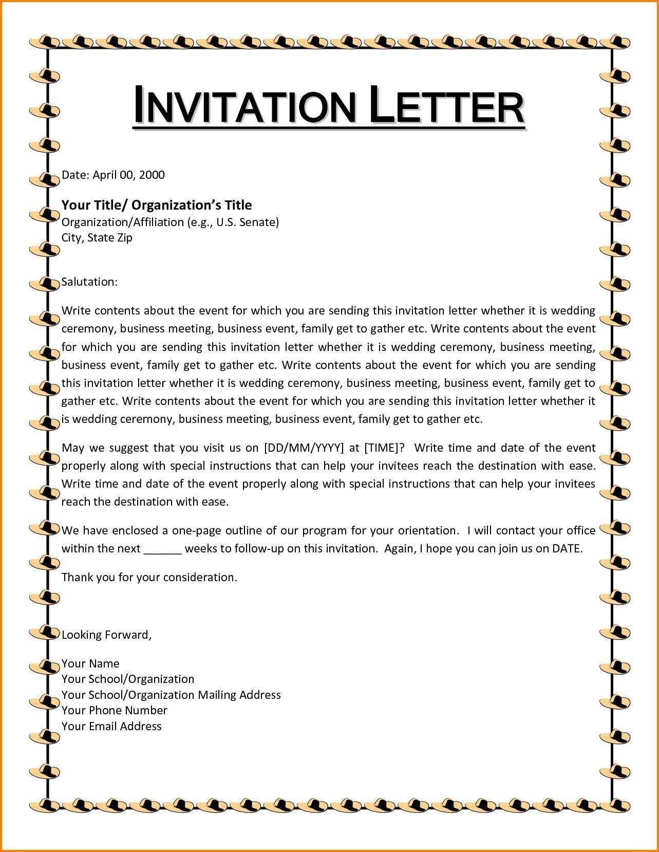 Event Invitation Write Up Check more at http//www