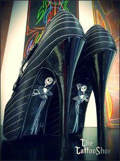 Jack The Pumpkin King Nightmare Custom Heels by The Tattoo Shoe