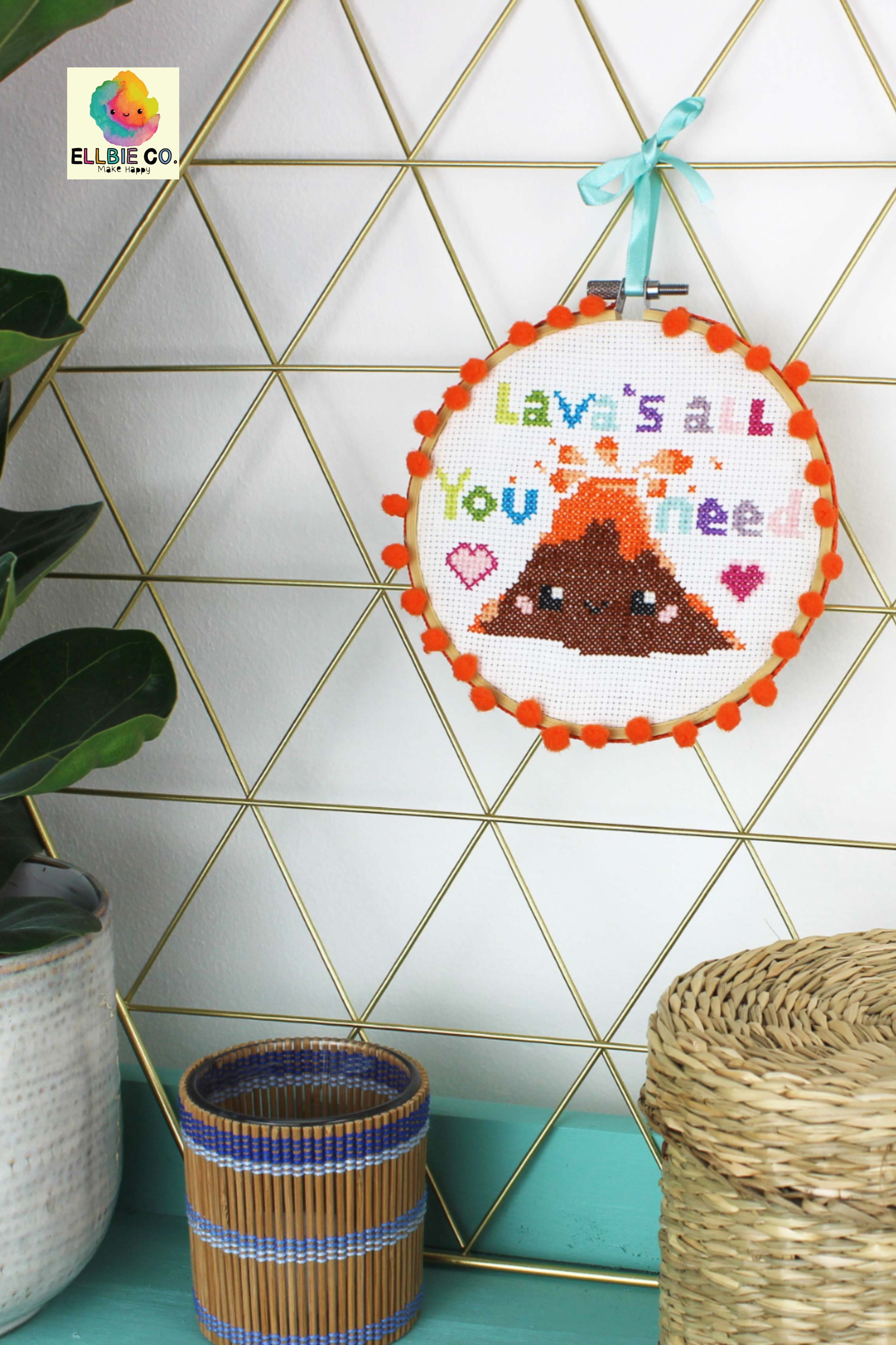 Cross stitch kit, cute kawaii cross stitch, Craft ideas, Crafting ideas, Crafting desk, DIY gifts,