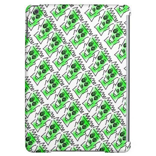 iPad Air Case - Green skull design