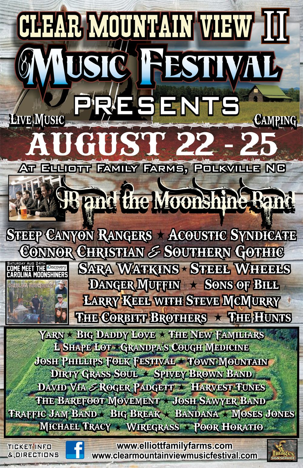 Clear Mountain View Music Festival LineUp August 2225