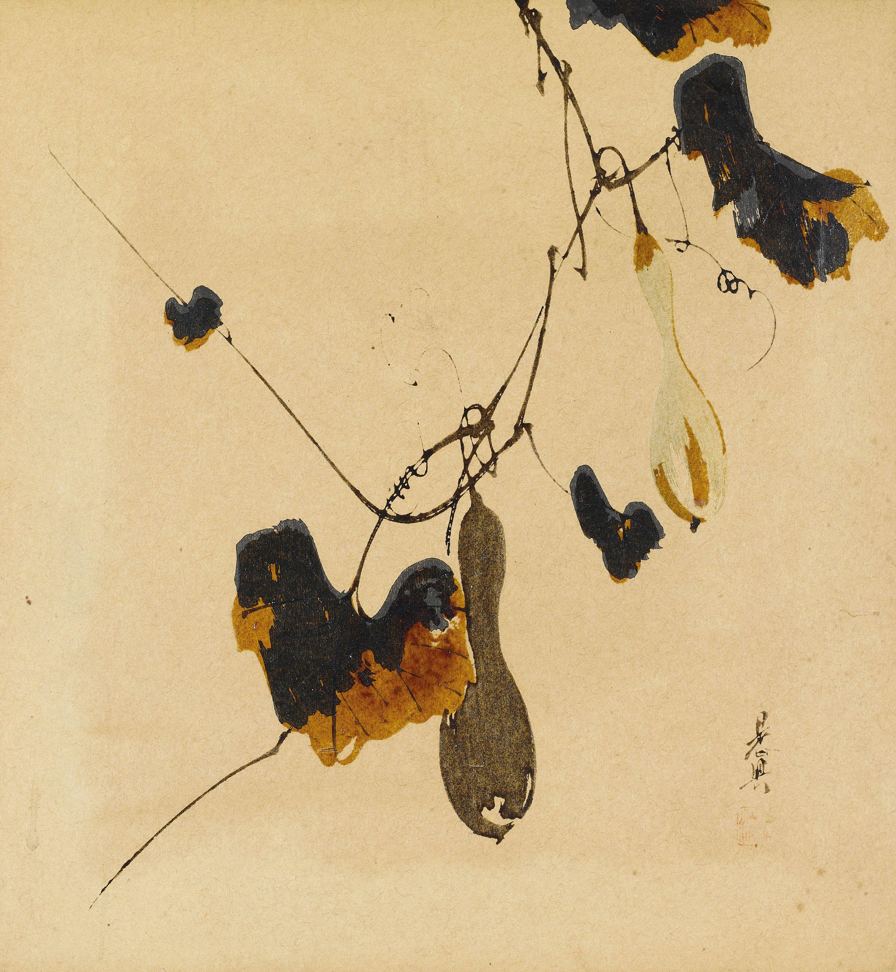 Shibata Zeshin (1807-1891) A group of six lacquer paintings Lacquer ...