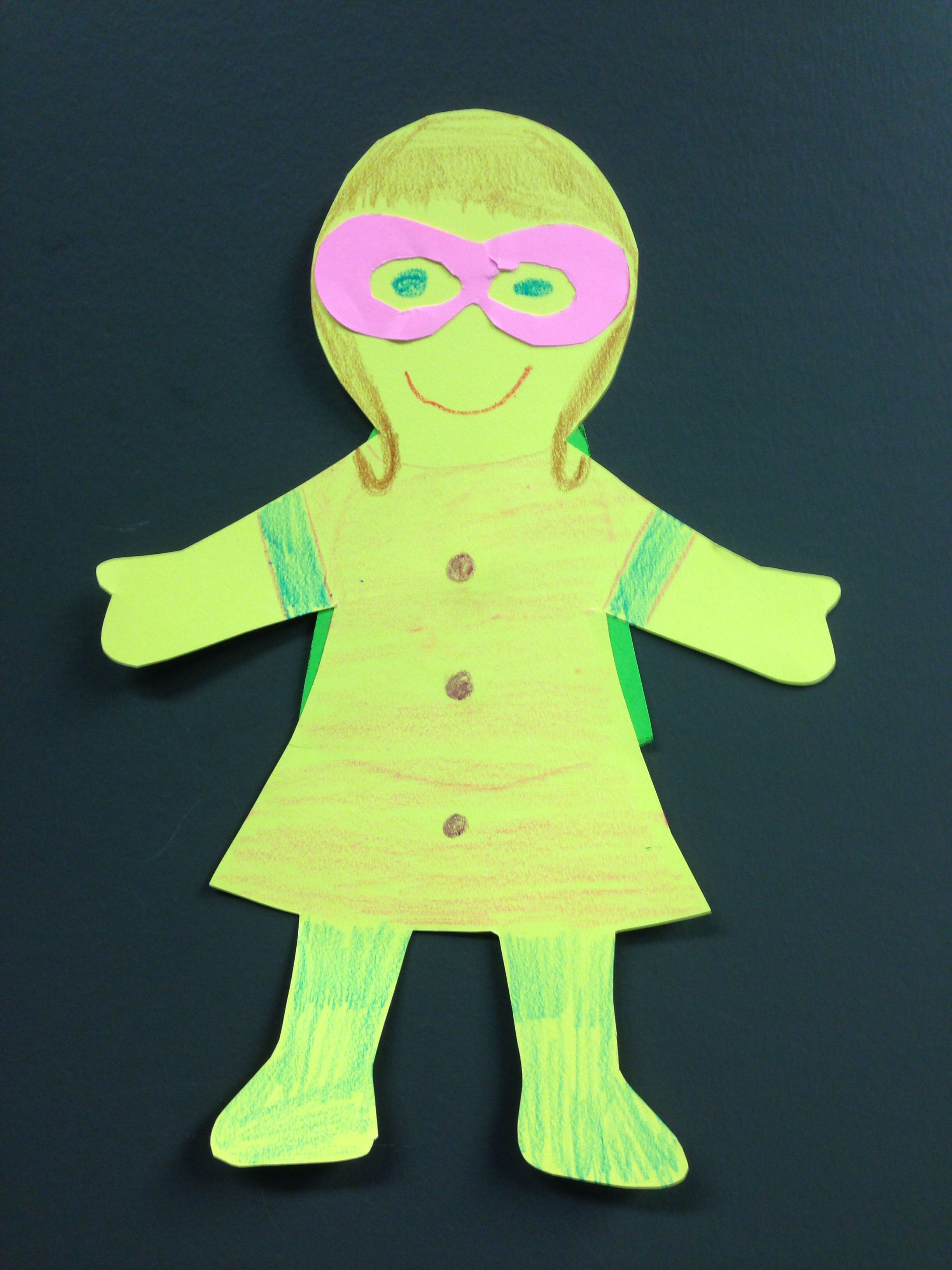 Preschool Superhero Girl Craft